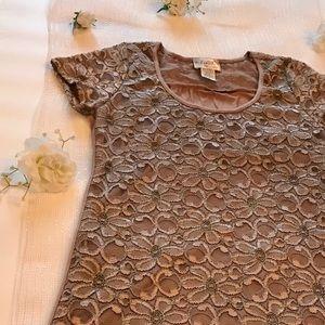 Lavish | deep brown dress shirt